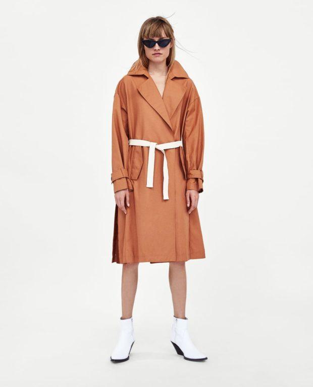 Пальто 2019-2020 года: оранжевое