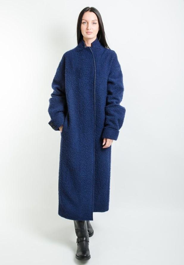 Пальто 2018-2019: Классическое синее женское
