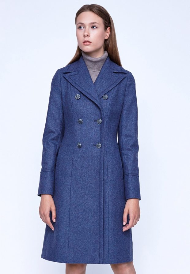 Пальто 2019 2020: Классическое синее женское