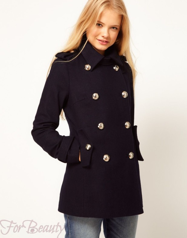 Женское пальто в стиле «Милитари» 2018