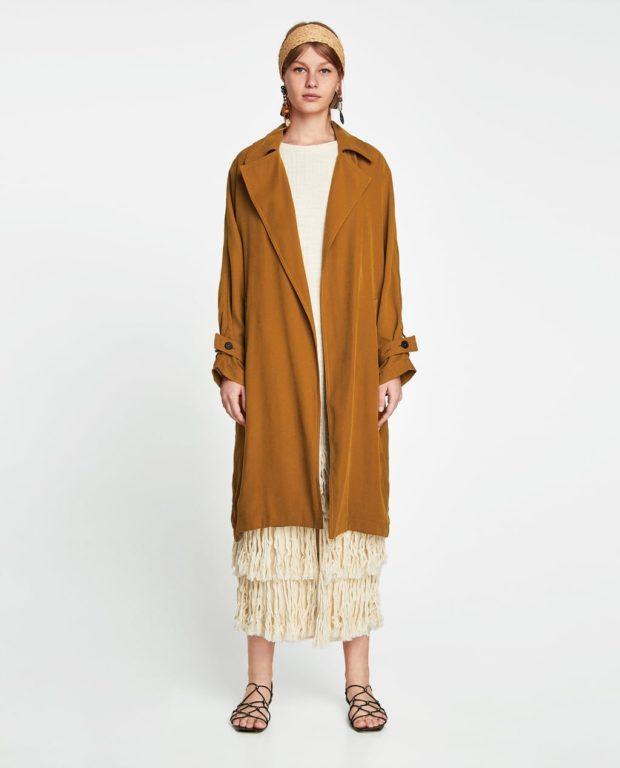 Пальто 2019-2020 года: коричневое