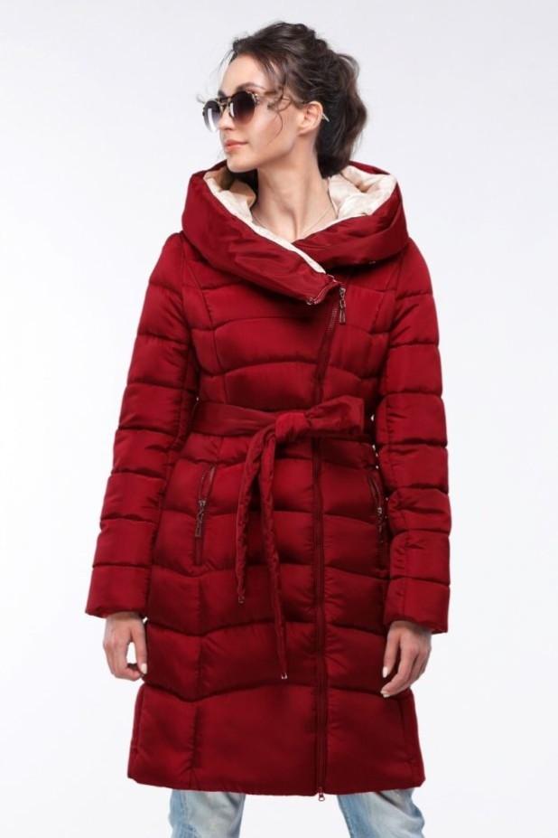 женское пальто: красное пуховик