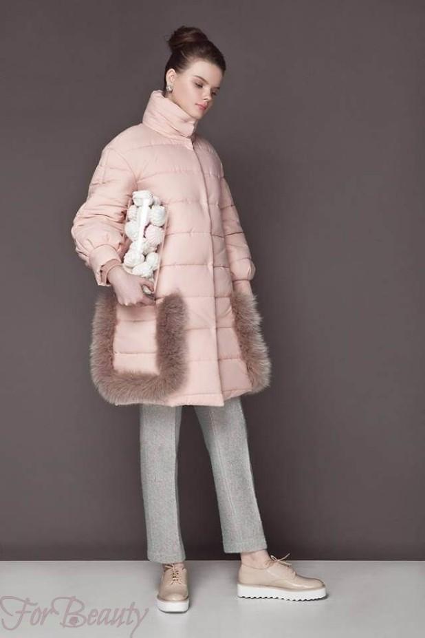 Женское розовое пальто пуховик 2018