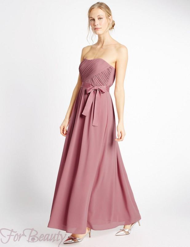 Модные платья максидлины 2018 розовые