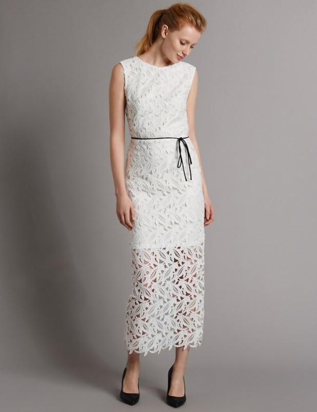 платья 2018-2019 года: макси длины белые