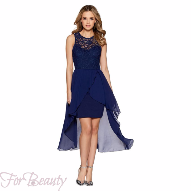 Модные платья «Маллет» 2018 вечернее