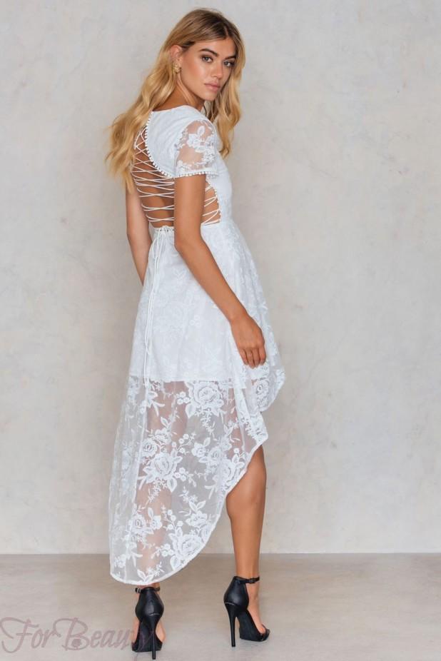 Модные платья «Маллет» 2018 белое