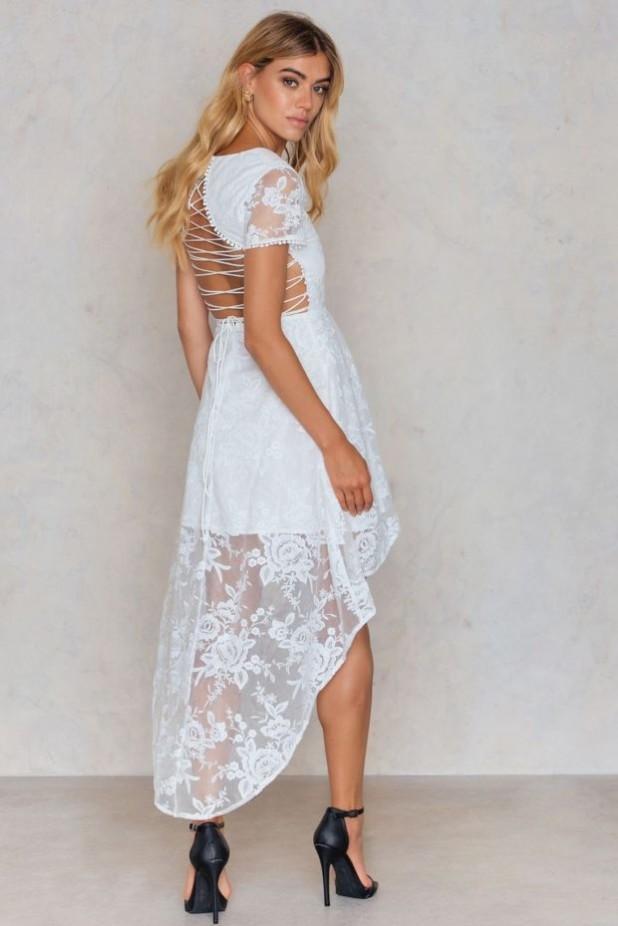 модное платье: платья Маллет белое