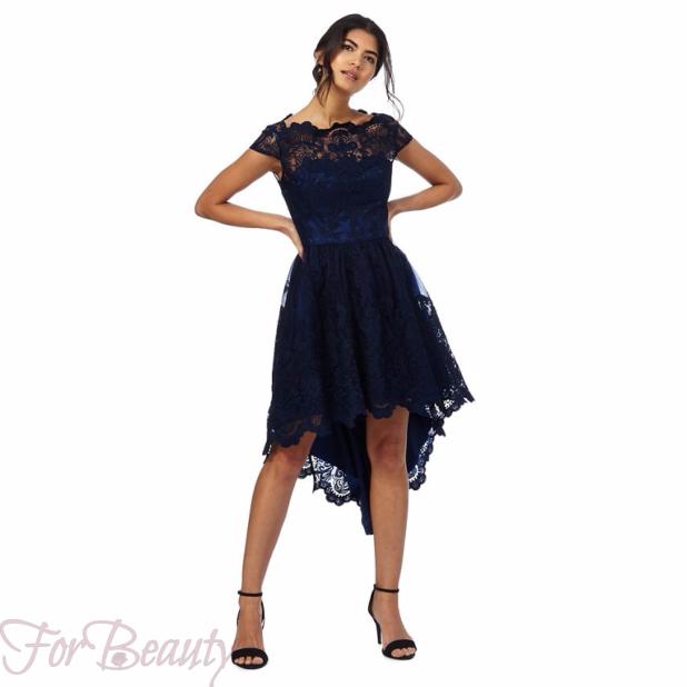 Модные платья «Маллет» 2018 кружевное