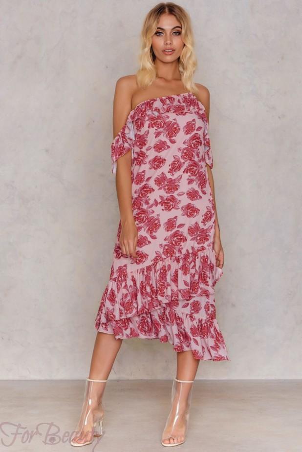 Модные платья с цветочнымипринтами2018
