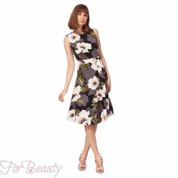 Модные платья с яркимипринтами2018