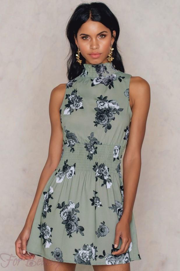 Модные платья с цветочнымипринтами2018 мини