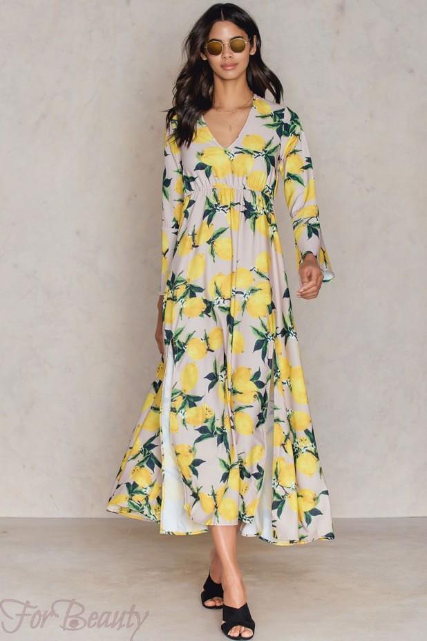 Модные платья макси с цветочнымипринтами2018