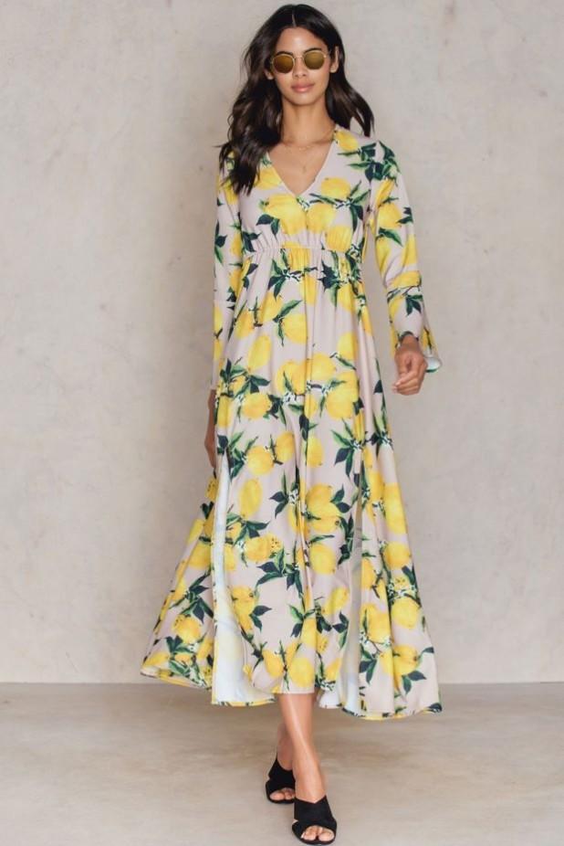 Модные платья макси с цветочнымипринтами