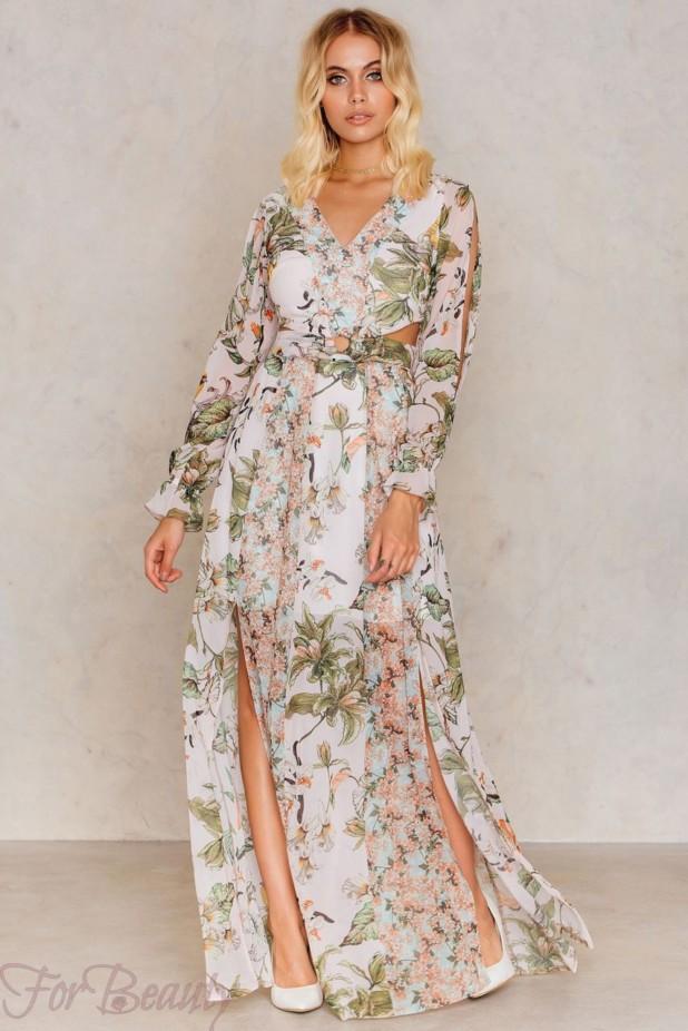 стильные платья с цветочнымипринтами2018