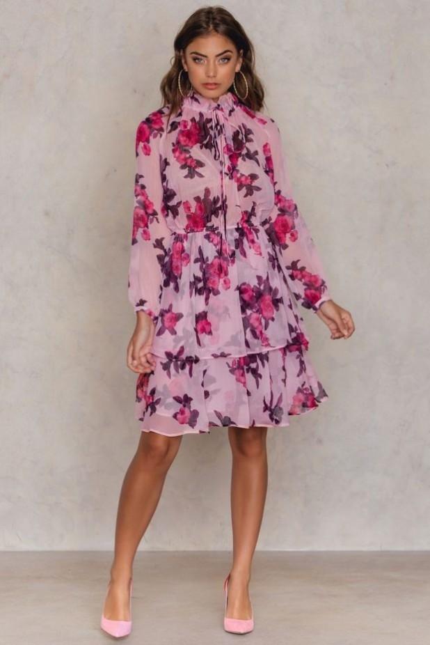 Модные платья из шифона фото