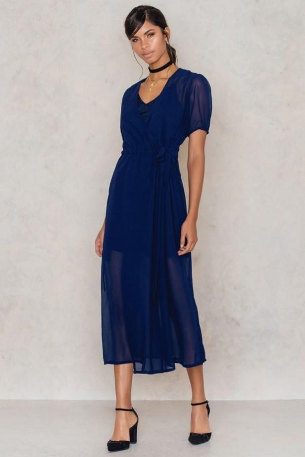 Модные платья миди из шифона