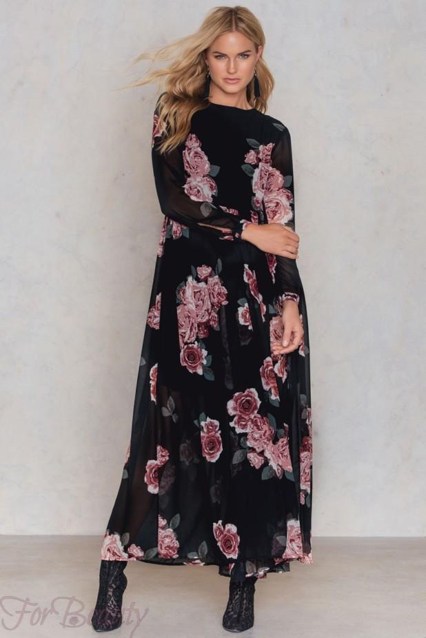 Модные платья макси длины 2018