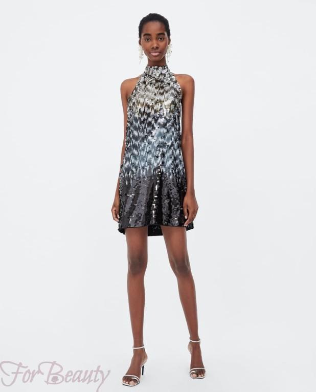 Модное блестящее миниплатье 2018