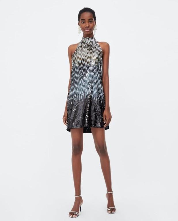 платья 2018-2019 года: блестящее миниплатье
