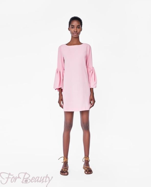 Модное розовое миниплатье 2018