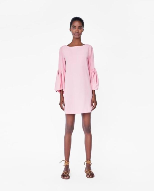 платья 2018-2019 года: розовое мини