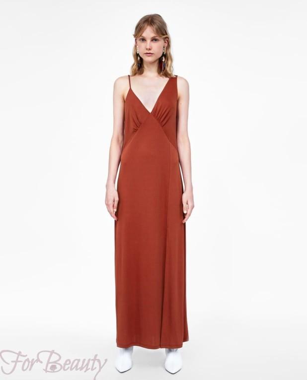 Модное красное платье макси длины 2018