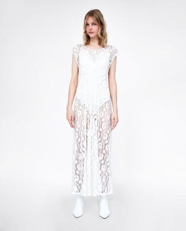 платья 2018-2019 года: белое макси длины