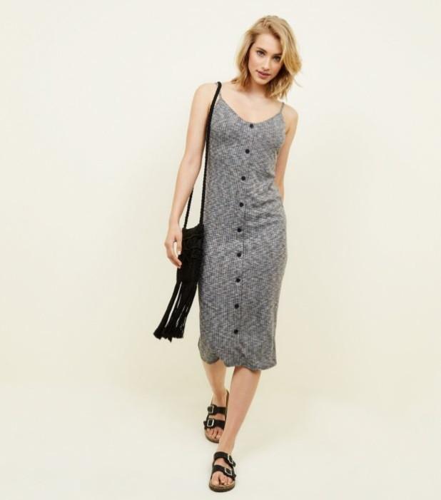 модные платья: серое для офиса