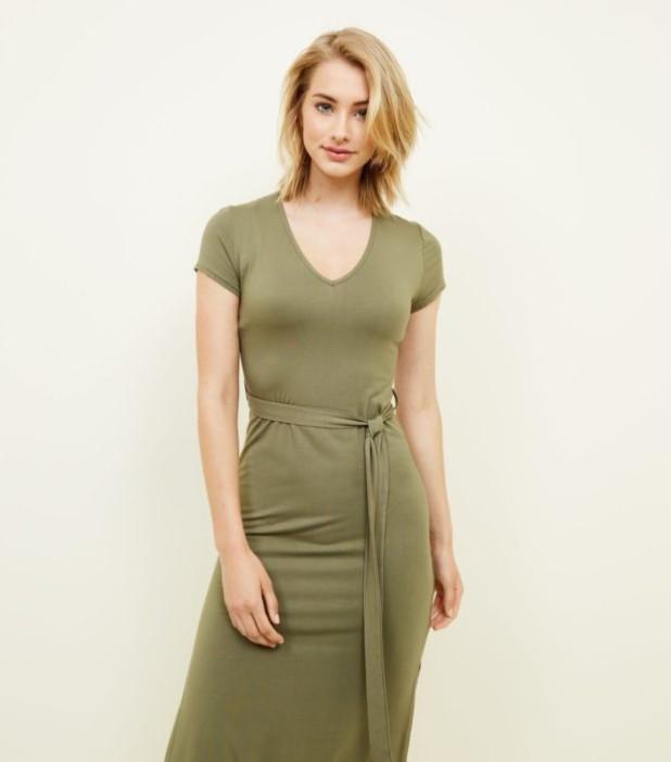 модные платья: зеленое для офиса