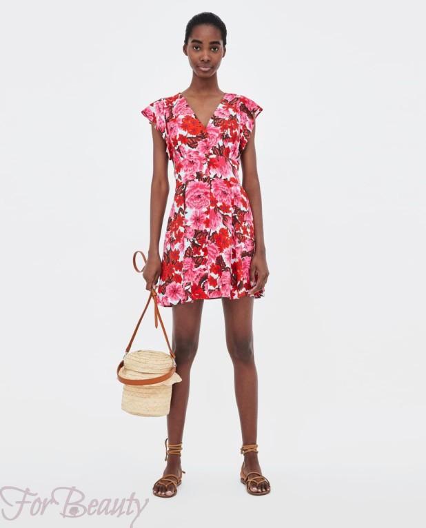 Модное цветочное миниплатье 2018