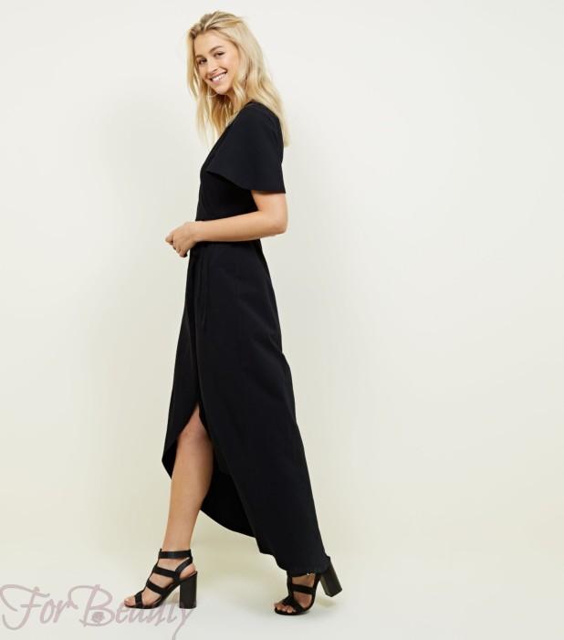 Модное черное платье для офиса 2018