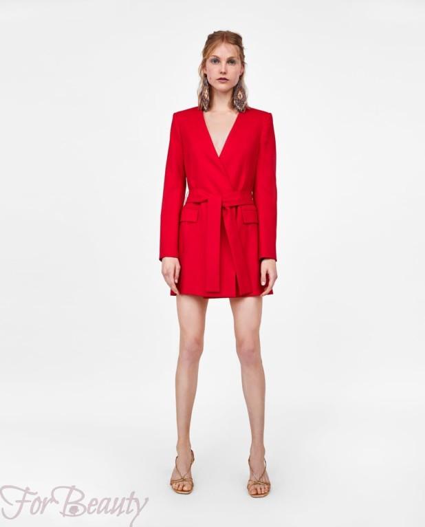 Модное красное миниплатье 2018