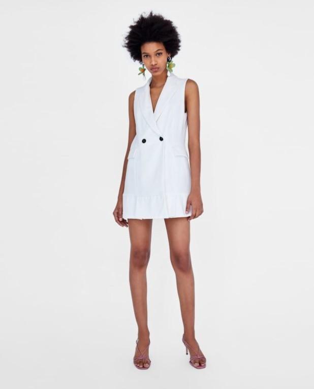 платья 2018-2019 года модные тенденции: белое миниплатье