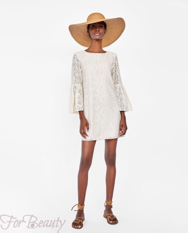 Модное белое миниплатье 2018