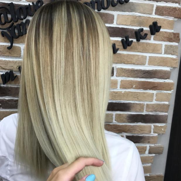 Модная покраска для русых волос на средние волосы