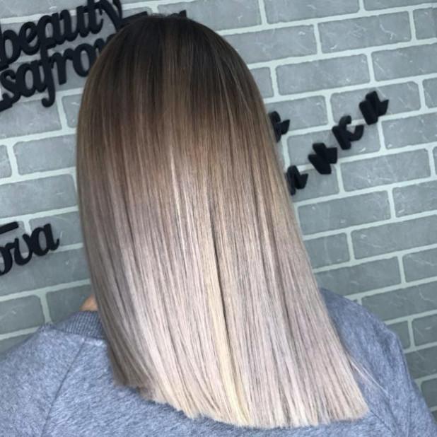 покраска волос 2018-2019 на средние волосы