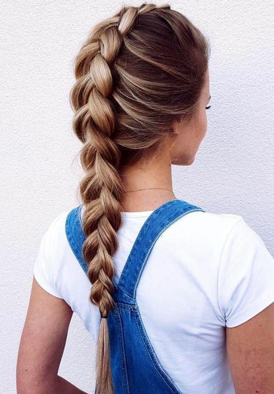 французская коса на 1 сентября на длинные волосы фото