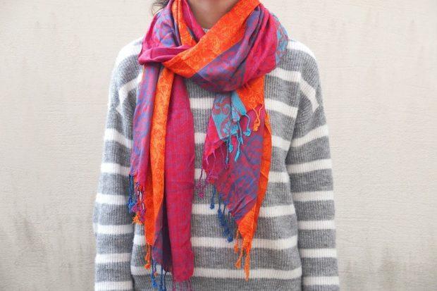 как завязать красиво шарф