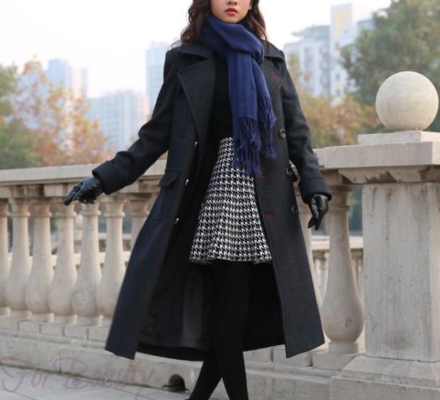 Какой шарф носить если пальто с воротником? фото
