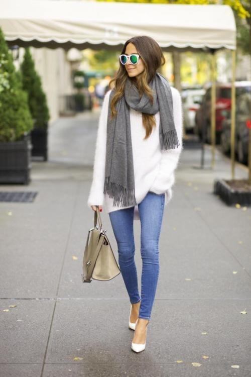стильный лук с пальто