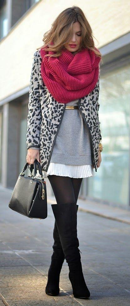 Как завязать шарф на пальто без воротника фото