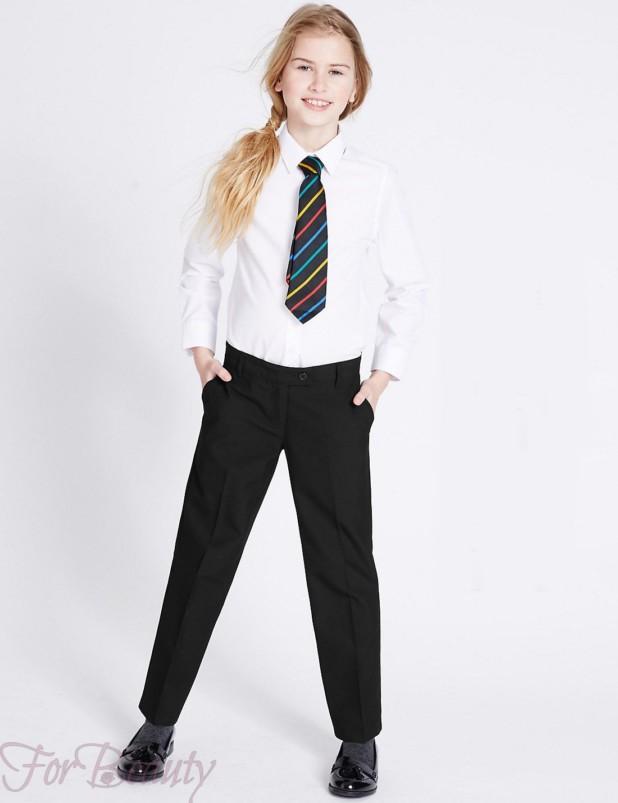 классические школьные брюки для девочек 2017-2018