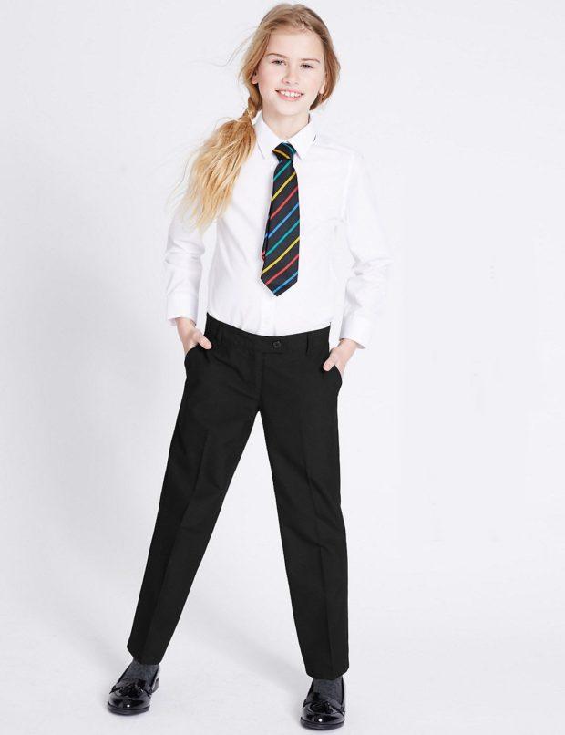 классические школьные брюки для девочек 2018 2019