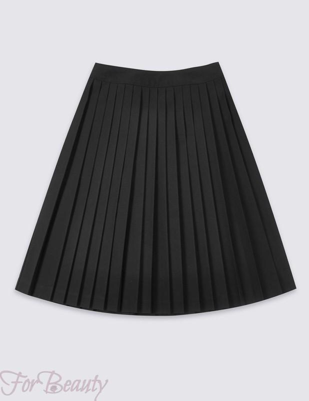 модная школьная юбки для девочек 2017-2018