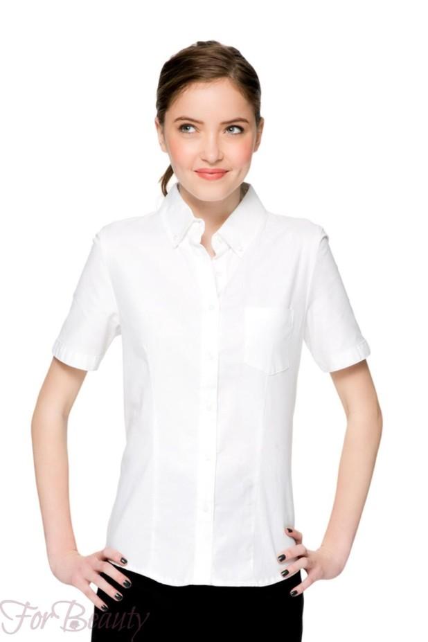 Школьные блузки для девочек с коротким рукавом 2017-2018