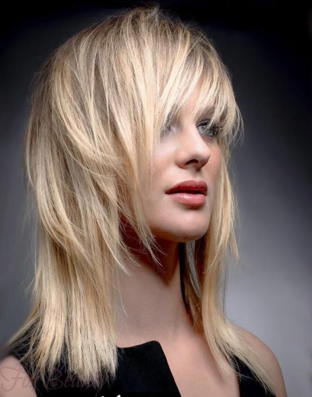 Стрижка каскад на длинные волосы фото 2018 с челкой