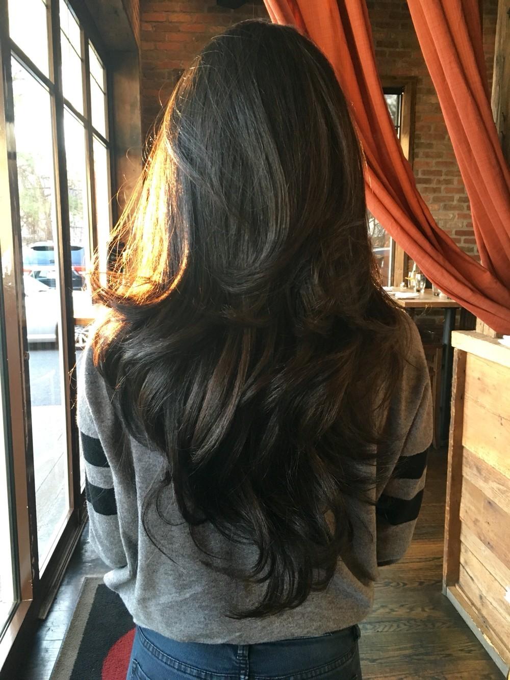 Стрижка каскад на длинные волосы 2018-2019