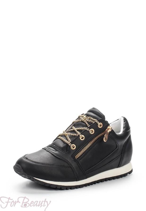 Черные женские кроссовки 2018