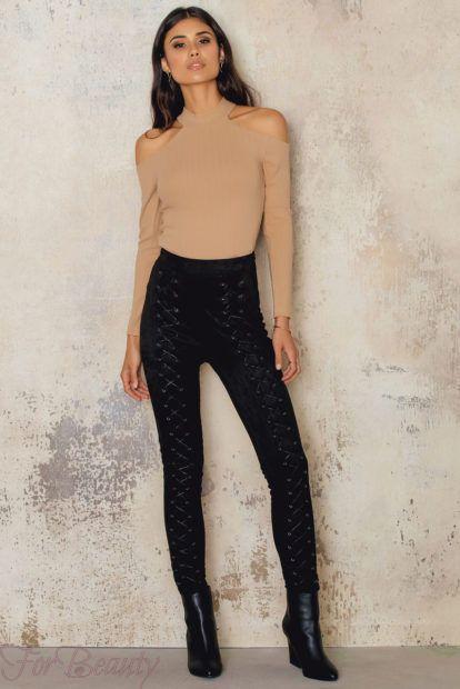 брюки женские 2019 года: черные узкие